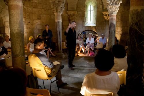 La Crypte de Saint-Girons, durant la Fête de la Crypte le 2 juin 2012 (© F. Méheut)